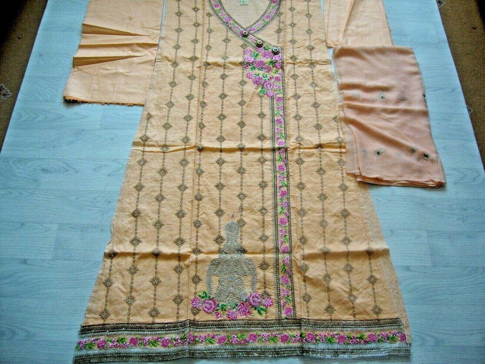 Falak Fabrics Cotton Fancy heavy Embroidered Semi-stitched Salwar Kameez EID