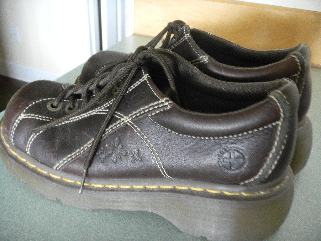 Dr Martens Martens Martens Marrón con Cordones 6 Ojo Floral Oxford Cuero Zapatos De Mujer Tamaño 12283 8  gran descuento