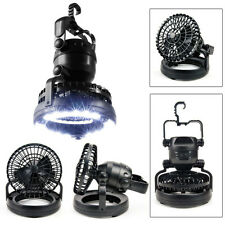 2 in 1 Outdoor Camping Fan with 18 LED Hanging Light Tent Lantern