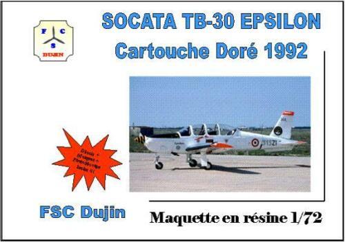 SOCATA TB-30 EPSILON PATROUILLE CARTOUCHE DORE 1992 FSC DUJIN 1//72