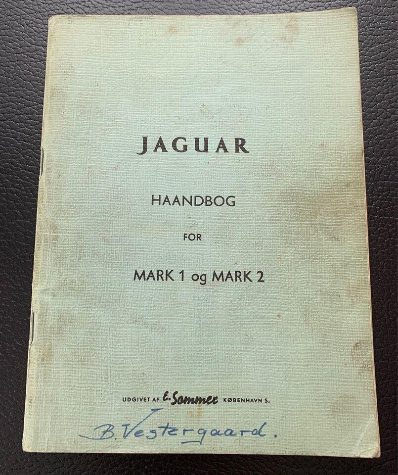 Jaguar mk 1 - 2 værkstedshåndbog, Jaguar org.