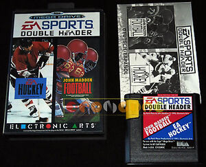 EA-SPORTS-DOUBLE-HEADER-Hockey-Madden-Mega-Drive-Versione-Euopea-COMPLETO