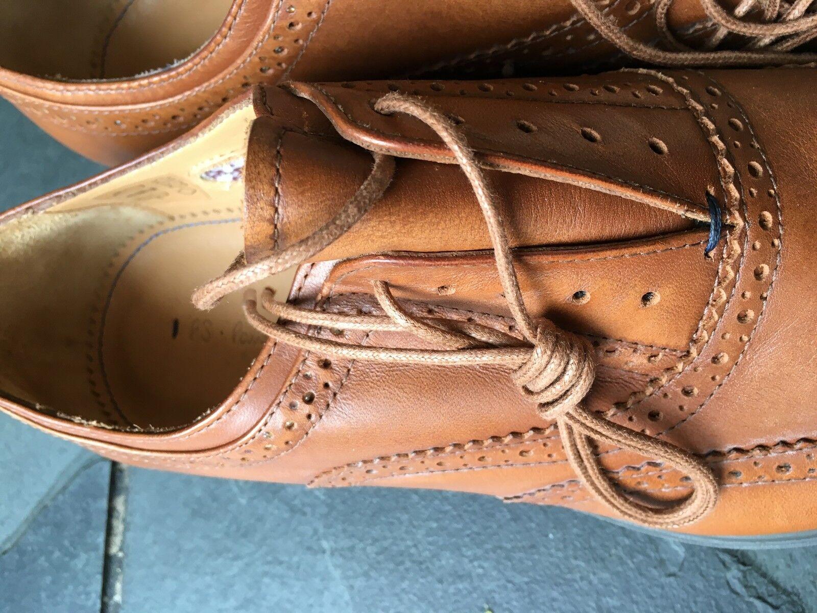 Paul Smith  PS Sammlung Sammlung Sammlung  hellbraunes Leder carson oxford Brogue Halbschuhe UK 7  4e7e65