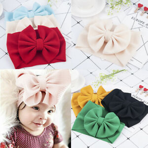 Cute-Toddler-Baby-Big-Bow-Hairband-Headband-Stretch-Turban-Knot-Head-Wrap