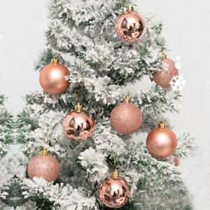 36pcs Hot Rose Gold Christmas Balls Ornaments For Xmas Tree Christmas Ornament G Ebay