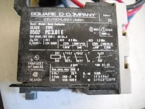 Square D 2520 MP 2.4 Starter 4A 4 Amp A W// PC 3.01E