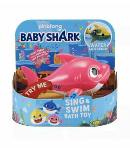 Baby Shark Daddy Shark Pink Robo Alive Junior Sing & Swim