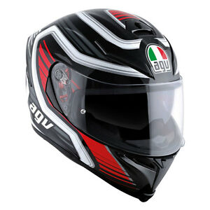 CASCO-INTEGRALE-AGV-K-5-S-MULTI-PLK-FIRERACE-BLACK-RED-TAGLIA-M-L