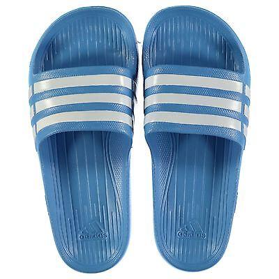 Nuevas chanclas flip flop para hombre Duramo Sliders Adidas Azul/blanco de tamaño de 9-13