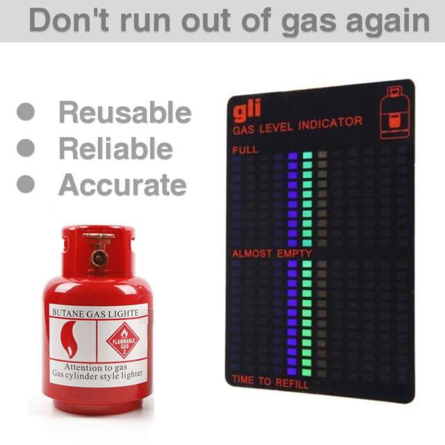 Motorhome Caravan or Camping. Ideal for BBQ LEPG Fuel Butane Propane Bottle Tank Level Magnetic Gas Level Indicator
