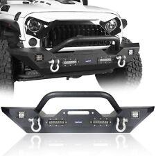 Steel Front Bumper With Winch Plate Fit 2007 2021 Jeep Wranglergladiator Jk Jl Jt