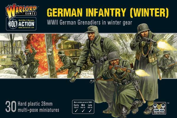 GERMAN INFANTRY ( WINTER ) - WARLORD GAMES - BOLT ACTION