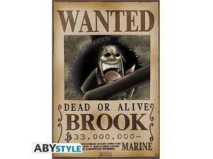 Poster-One-Piece-Wanted-Brook-52-x-35-cm-ABYstyle