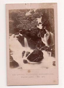 Vintage-CDV-Lodore-Falls-Penrith-Cumbria-England-Manchester-Photo