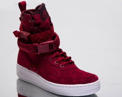 Nike SF Air Force 1 Women Lifestyle Shoes Red Crush White Sneakers 857872-601