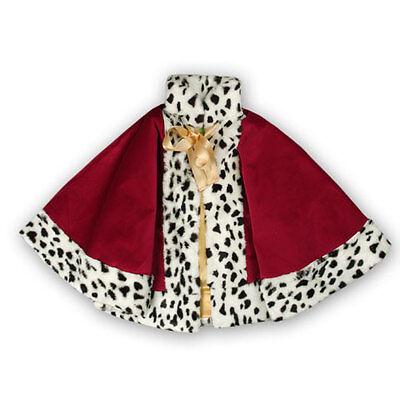 Lovely Lea Royal Princess Cape Mantello Costume Principessa Re Porpora Rosso-mostra Il Titolo Originale Prestazioni Affidabili