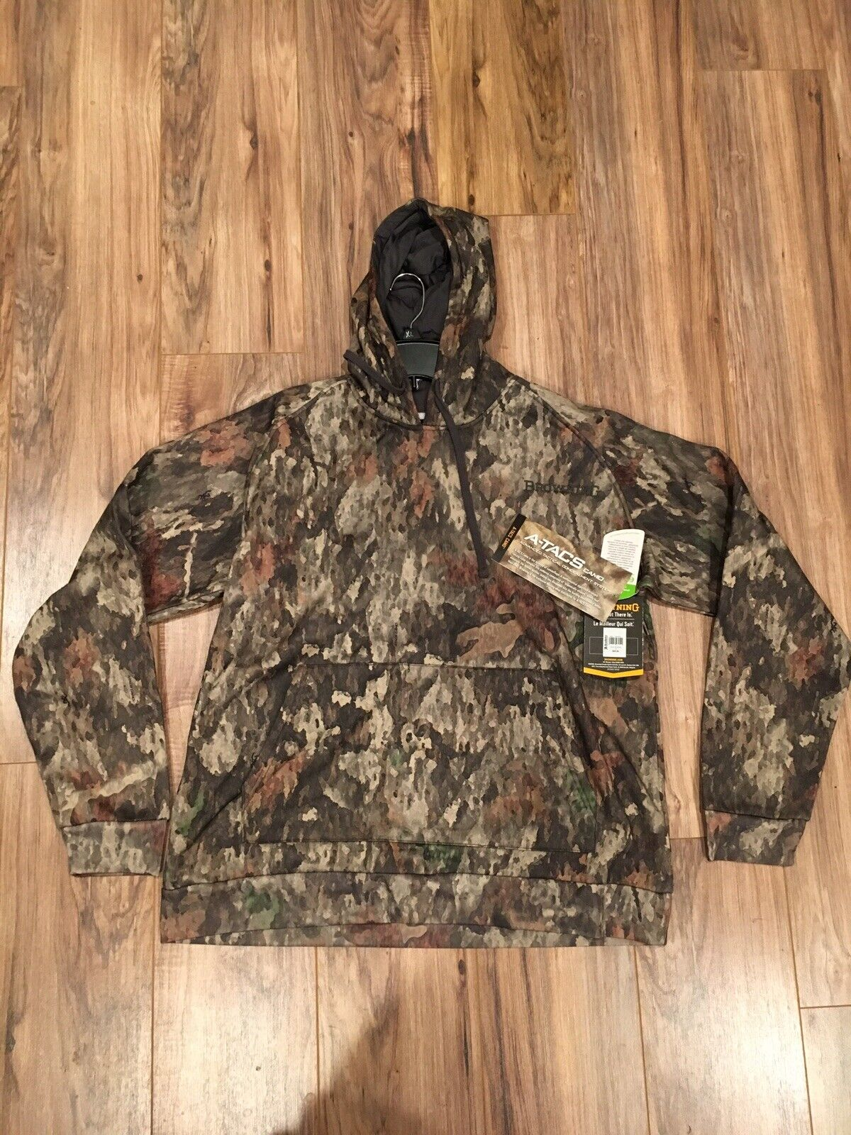 NWT Browning Trailhead Hoodie Extra Large (XL) A-TACS Camo