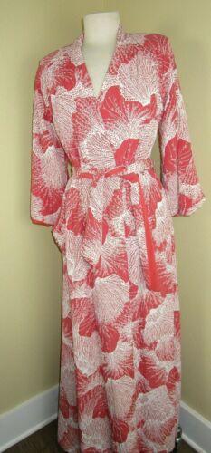 Vtg 1940's Quilted Bathrobe Housecoat Robe Califo