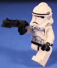 LEGO® STAR WARS™ 7655 CLONE TROOPER™ Minifigure White Open Face Phase II+Blaster