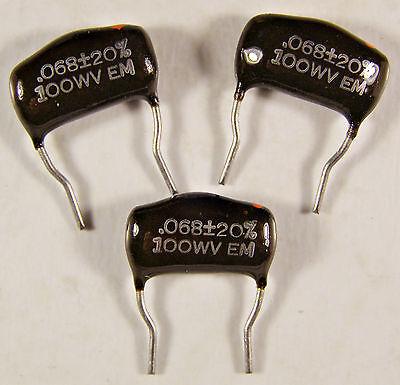 4 El Menco MPD .0015uf 50V Dipped Mylar Capacitors NOS EM