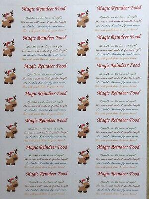 14 X Adesivi Magico Renne Cibi-vigilia Di Natale Tradizione-