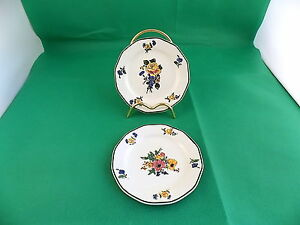 Royal-Doulton-Old-Trentham-Sprays-Plates-x-2