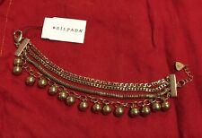 ❤️Silpada K&R Unreleased Brass Bracelet multi chain Cha Cha Dangles NWT