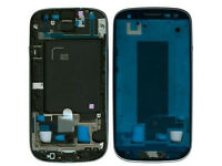 Silver White Mid Cover Frame Front Housing For Samsung Galaxy S3 I535 R530
