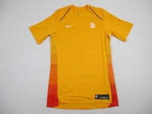 NEW-Nike-Utah-Jazz-Yellow-Dri-Fit-Short-Sleeve-Shirt-Multiple-Sizes