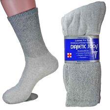 6 Pairs Diabetic Crew Circulatory Socks Health Mens Cotton 10-13