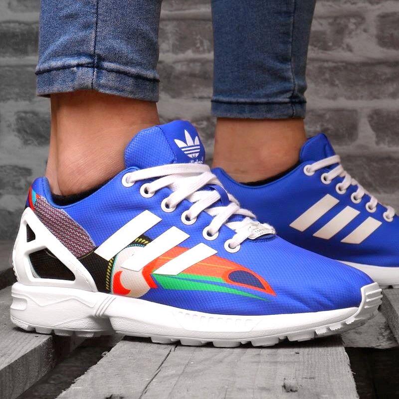 Adidas ZX FLUX W Damen Schuhe Freizeit Sneaker Laufschuhe FARM Shoes blau/weiss