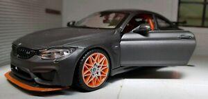 1-24-BMW-M4-GTS-F82-Coupe-Matt-Grey-Maisto-31246-Diecast-Model-Car