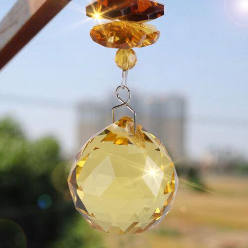 Clear Crystal Ball Suncatcher Prisms Pendant Rainbow Hanging Wedding Decor Gift