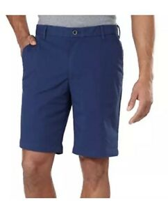 New-IZOD-Mens-Non-Iron-Performance-Shorts-Navy-Blue-32W-BE065