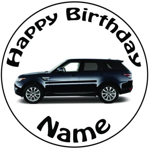 """Personnalisé anniversaire land rover série 8/"""" facile precut icing cake topper"""