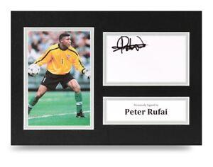 Peter-Rufai-Signed-A4-Photo-Display-Mexico-Autograph-Memorabilia-COA