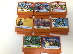 LOT-OF-8-Vtech-V-Smile-V-Motion-Learning-System-Games-Disney