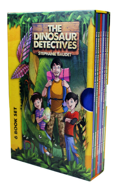 the dinosaur detectives six book collection by stephanie baudet