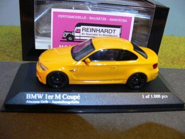 1 43 Minichamps  BMW 1-series M Coupé 2011 jaune 410020027  promotions passionnantes