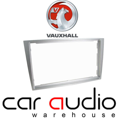 Silver Metalic Vauxhall Antara 2007 On Car Stereo Radio Double Din Fascia Panel