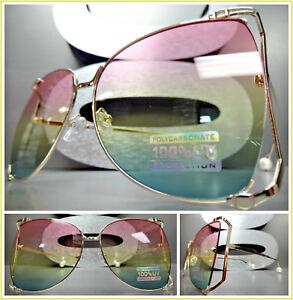 9aa5e529f02 Image is loading OVERSIZED-VINTAGE-RETRO-Style-SUN-GLASSES-Rose-Gold-