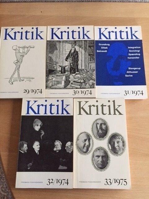 Tidsskriftet Kritk, flere forfattere, emne: