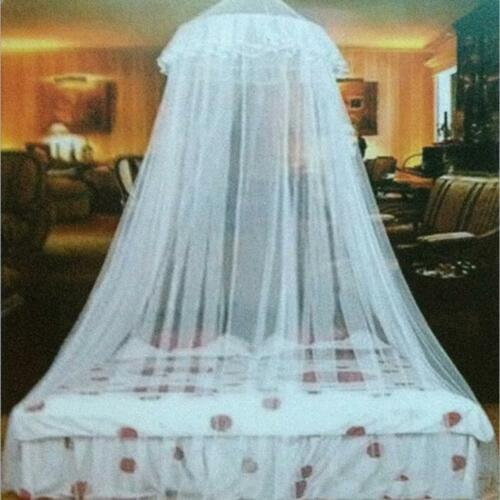 Elegant Lace Mesh Bed Mosquito Canopy Princess Round Dome Bedding Net Curtain J