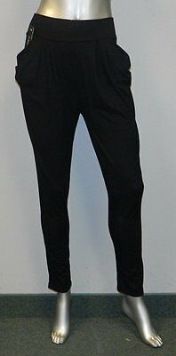 Pants Women's Clothing Casualine Nwt Black Elastic Waist Draped Pockets Stretch Skinny Pant Sz Xl/2xl