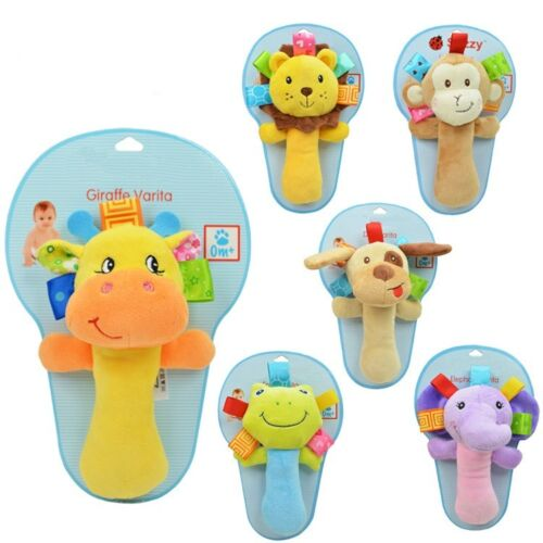 Kids Baby Animal Handbells Musical Developmental Toy Bed Bells Soft Toys Rattle