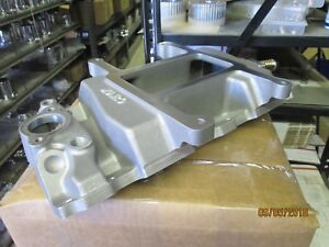 Details about NEW 350 Chevy SBC 4-71 blower manifold satin finish  supercharger supply hot rod