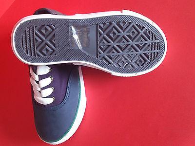 Muchachos Kids púrpura Azul Verde Blanco Ribete plimsolls Bombas Casual Zapatos Talla 10 A 5