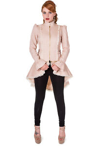 Beige-039-Rise-Of-Dawn-039-Gothic-Victorian-Rockabilly-Steampunk-Jacket-Banned-Apparel