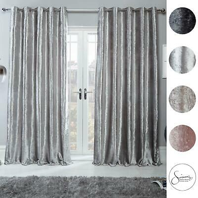 Sienna Crushed Velvet Curtains Pair Of, How To Wash Crushed Velvet Curtains