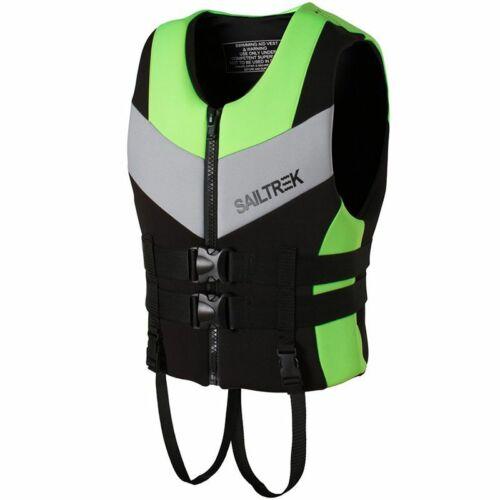 Adult Life Jacket Kayak Ski Buoyancy Aid Vest Sailing Boating Swimming Fishing